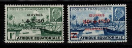 YV 195 & 196 N* Oeuvres Coloniales Cote 2,50 Eur - A.E.F. (1936-1958)