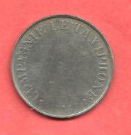 Jeton COMPAGNIE LE TAXIPHONE , N° B5 , Cupro-Nickel , Diam: 24 - Noodgeld