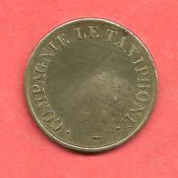 Jeton COMPAGNIE LE TAXIPHONE , N° B4 , Messing / Cupro-Nickel , Diam: 24 - Monétaires / De Nécessité