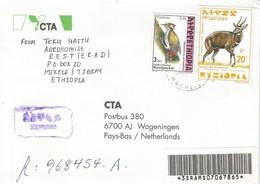 Ethiopia 2000 Makalie Woodpecker Bushbuck Registered Express Cover - Ethiopië