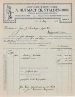 Rechnung  Confiserie-Waren-Fabrik Hutmacher, Stalden I. Emmental, 1918. Berner-Bär - Suisse