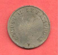 Jeton COMPAGNIE LE TAXIPHONE , N° B2 A , Cupro-Nickel , Diam: 24 - Notgeld