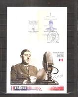 Grande Enveloppe Du Rwanda Avec Bloc 23 Général De Gaulle - L'Appel Du 18 Juin 1940 (à Voir) - De Gaulle (Général)