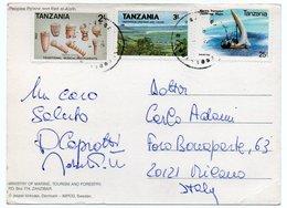 TANZANIA - PEOPLES PALACE AND BEIT EL-AIAIH - ZANZIBAR/THEMATIC STAMPS-SHIP/MUSICAL INSTRUMENTS - Tanzania