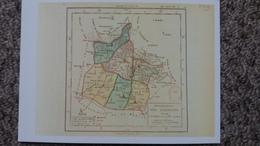 CPM DEPARTEMENT DES ARDENNES GEOGRAPHIQUE E 1789 1 ERES CARTES DES DEPARTEMENTS ORIGINE 1792 BIBLIOTHEQUE NATIONALE - Cartes Géographiques