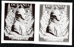 Oceania Post Captain Cook Design Essay. Dak And Light Backgrounds. - Unclassified