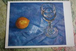 "Alcohol In Art -  *Still Life With Vodka Glass"" - By Petrov-Vodkin - Moldavie"