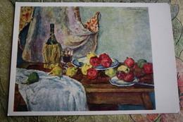 """Alcohol In Art -  *Still Life With Granade"""" - By Konchalovsky - Moldavie"""