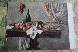 "Alcohol In Art -  *Still Life With Hare"" - By Konchalovsky - Moldavie"