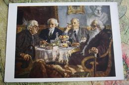 "Alcohol In Art -  *Old Painters"" - By Gerasimov - Moldavie"