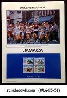 JAMAICA - 1984 OLYMPIC GAMES WOMEN'S MARATHON PANEL MNH - Olympische Spiele