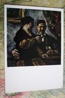 """Alcohol In Art -  *Self Portrait With Wife"""" - By Konchalovsky - Moldavie"""