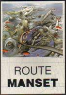 """Carte Postale """"Cart'Com"""" - Série  Divers, Presse, Médias,... - Route Manset (illustration : Enki Bilal) - Illustrateurs & Photographes"""