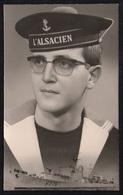 """MARINE NATIONALE - ESCORTEUR RAPIDE """"L'ALSACIEN"""" / 1966 PHOTO D'UN MATELOT (ref LE2430) - Bateaux"""