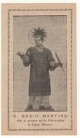 Santino Antico San Sosio Martire Da Capo Miseno - Napoli - Religione & Esoterismo