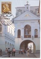 Lituanie   Lietuva 1991  Church Maxicard - Lithuania