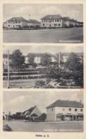 Halle A. S. Germany, Multi-view Market Place, Heiderandsledlung C1920s/30s Vintage Postcard - Allemagne