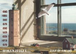 Soederskaer Finland, Gulf Of Finland Lighthouse, C2000s Vintage Postcard - Finland