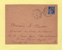 Poste Navale Embarquee - Cuirasse Courbet - 22-2-1938 - Type Paix - Poststempel (Briefe)