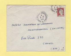Poste Navale Embarquee - Porte Avions Arromanches - 3-11-164 - Marianne De Decaris - Marcophilie (Lettres)