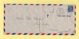 Poste Navale Embarquee - Porte Avions Dixmude - 1-3-1955 - Marianne De Gandon - Destination Suisse - Marcophilie (Lettres)