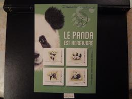 "FRANCE 2019 "" LE PANDA EST HERBIVORE - LE PANDA, TRESOR NATIONAL DE CHINE "" COLLECTOR  4 TIMBRES,  AVEC SIGNATURE - Collectors"