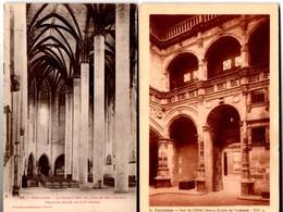 **  TOULOUSE Cour De L'Hôtel BERNUY (Lycée De Toulouse) + Double Nef Eglise Des Jacobins   **  2 X CPA NEUVES - Toulouse