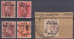 TRIPOLITANIA Amministrazione Civile E Militare Britannica - Lotto Di 5 Valori Usati Assortiti. - Südwestafrika (1923-1990)