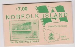Norfolk Island SB 3a 1991  Ship  Gutter Pairs Booklet.mint - Norfolk Island