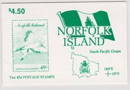 Norfolk Island SB 6 1996 Birds Booklet.mint - Norfolk Island