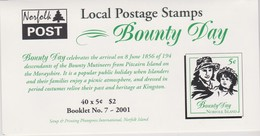 Norfolk Island SB 14 2001 Bounty Day  Booklet.mint - Norfolk Island