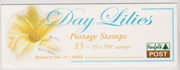 Norfolk Island SB 18 2003 Day Lilies Booklet.mint - Norfolk Island