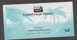 Norfolk Island SB 20 2004 Palm And Fern Booklet.mint - Norfolk Island