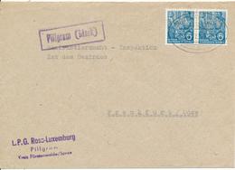 PILLGRAM (Mark) -  1959 , Brief Nach Frankfurt / O.  -  Landpoststempel , Postnebenstempel - Bahnpost - [6] Democratic Republic