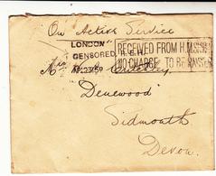G.B. / Royal Navy Censorship / Devon - 1902-1951 (Könige)