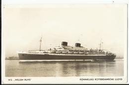 "Ship - Schip - Paquebot L.S. ""Willem Nuys"" - Koninklijke Rotterdamsche Lloyd 1953 - Passagiersschepen"