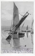 (RECTO / VERSO) BARQUE DE PECHE EN 1909 - N° 2045 - BEAU CACHET - CARTE AFFRANCHIE A HOULGATE - CPA VOYAGEE - Houlgate