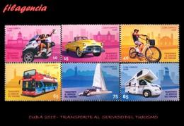 AMERICA. CUBA MINT. 2018 TRANSPORTE AL SERVICIO DEL TURISMO - Cuba