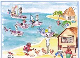 Polynésie Française / Tahiti - Armées - Base Navale De Papeete / Carte De Voeux 2005 - Polynésie Française