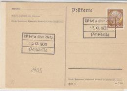 SUDETEN Köhlerkarten WIESA über Brüx/ WILDSTEIN - Occupation 1938-45