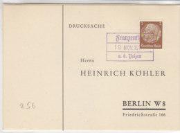 SUDETEN Köhlerkarten FRANZENTHAL / ABTSDORF - Occupation 1938-45