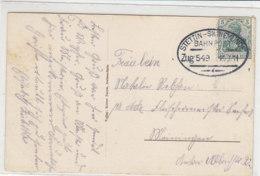 BAHNPOST Stettin-Swinemünde Zug 549 14.9.11 - Briefe U. Dokumente