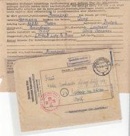 Kriegsgefangenensache Aus HANNOVER 17.6.49 Nach Leiberg Krs. Büren / Schweden übernimmt Neuerdings ... - BRD
