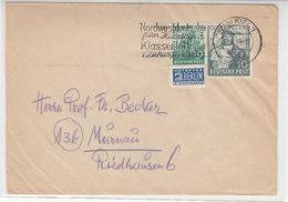 Brief Mit 103a, 106 Aus (24b)KIEL 2.8.49 Nach Murnau / Brief War Gefaltet - Amerikaanse-en Britse Zone