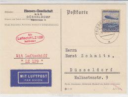 Zeppelinkarte Mit LZ 129 Aus FRIEDRICHSHAFEN 26.3.36 - Brieven En Documenten