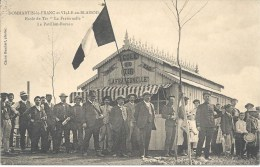 """(L182) Dommartin Le Franc Et Ville En Blaisois Ecole De Tir """"La Fraternelle"""" Le Pavillon-bureau (2 Scans) - Autres Communes"""
