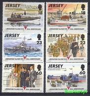 Jersey 1995 Mi 695-700 MNH ( ZE3 JRS695-700 ) - Guerre Mondiale (Seconde)