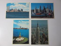 Manahattan Lot De 4 Cartes Postales Neuves - Manhattan