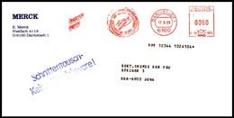 Bund / Germany: Stempel 'Merck-Reagenzien, 1989' / Cancel 'Reagents By Merck' 6100 Darmstadt - Chimie