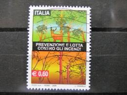 *ITALIA* USATI 2009 - PREVENZIONE LOTTA CONTRO INCENDI - SASSONE 3113 - LUSSO/FIOR DI STAMPA - 6. 1946-.. Repubblica
